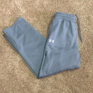 MENS UNDER ARMOUR GRAY SWEAT PANTS